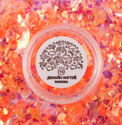 "Glitter for nail design ""Coral Mica"",2 gr"