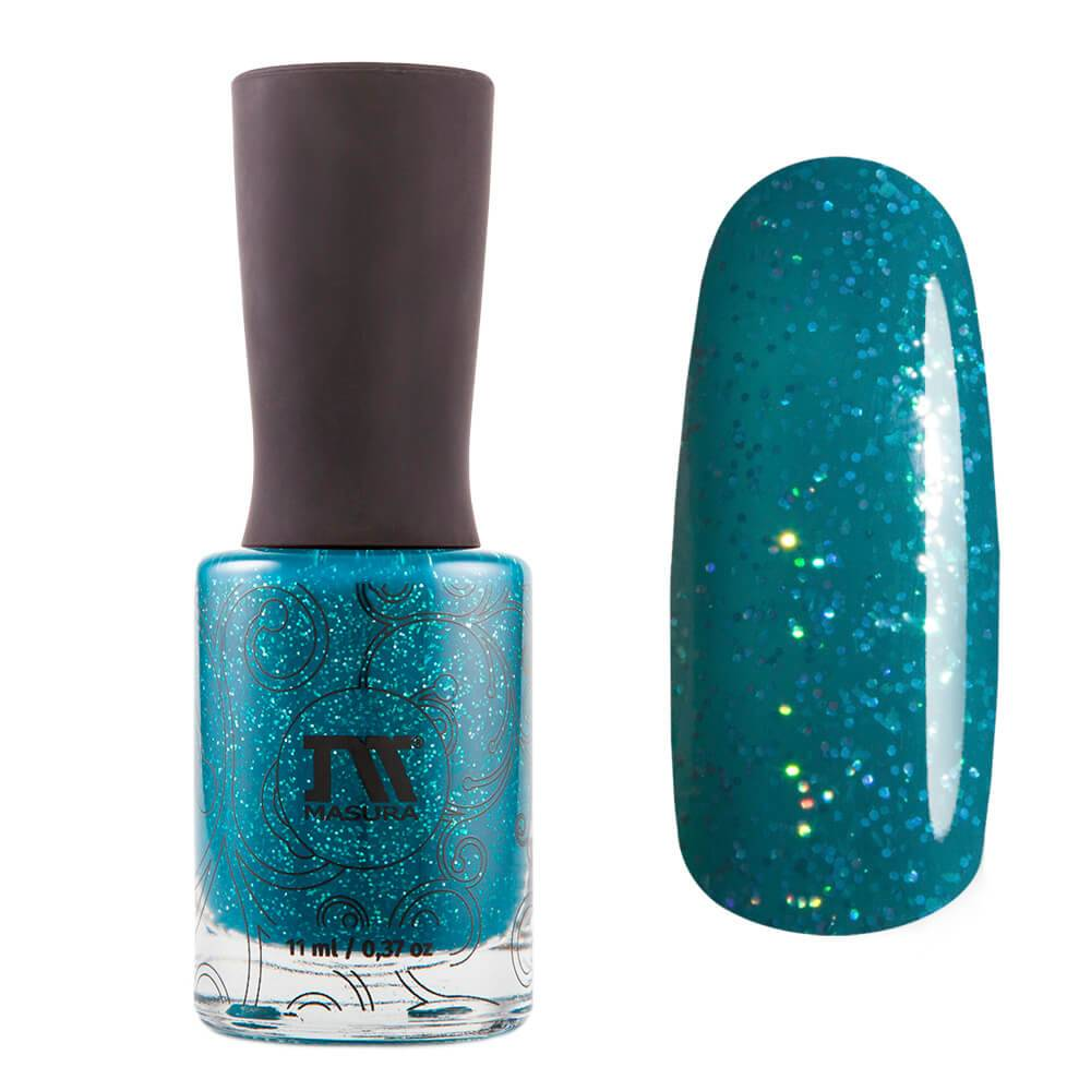"Nail polish ""Sparkle Teal The End"", 11 ml"