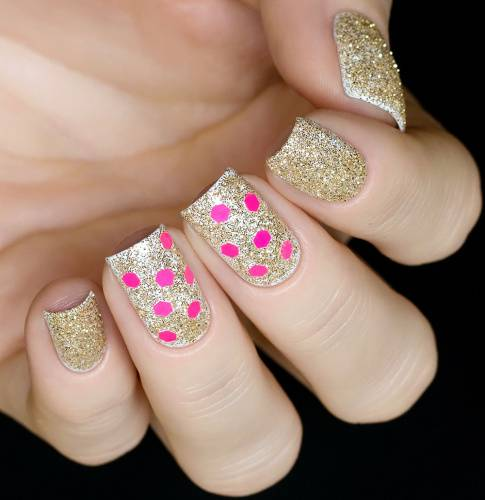 "Glitter for nail design ""Pink Comb,2 gr"