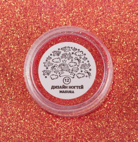 "Glitter for nail design ""Coral Cocktail"", 2 gr"