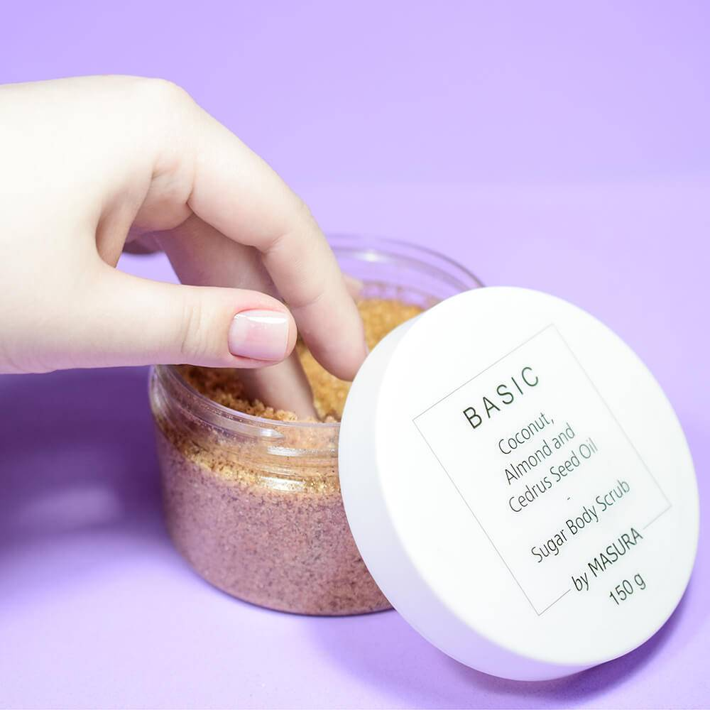 Dry sugar scrub for hands and body, 150g