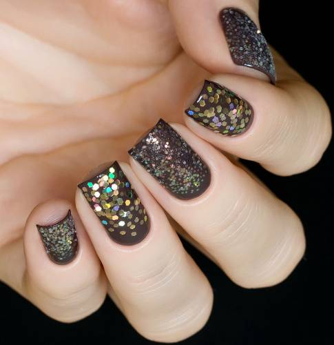 "Glitter for nail design ""Golden Holography"",2 gr"