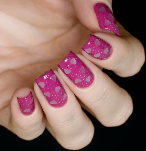 "Glitter for nail design ""Nacreous Heart"", 2 gr"