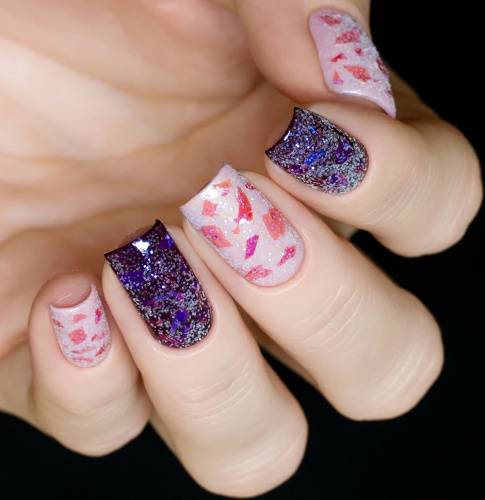 "Glitter for nail design ""Evening Snow"", 2 gr"