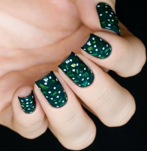 "Glitter for nail design ""Stylish Squares"" ,2 gr"